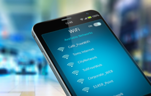 offering wifi as an amenity image: photo of phone showing different wifi networks