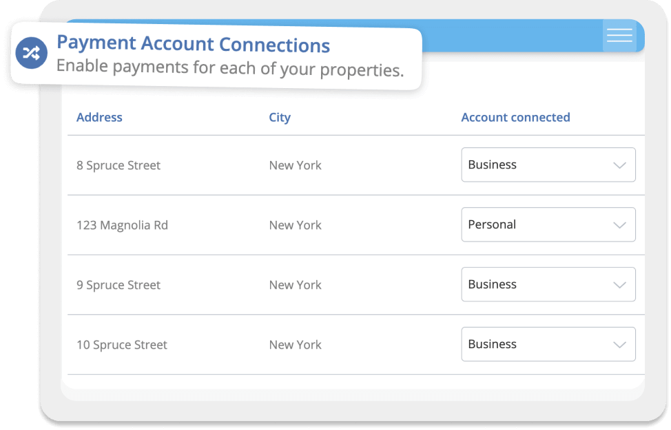 Payments, accounts, and tracking