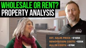 thumbnail text: wholesale or rent? property analysis