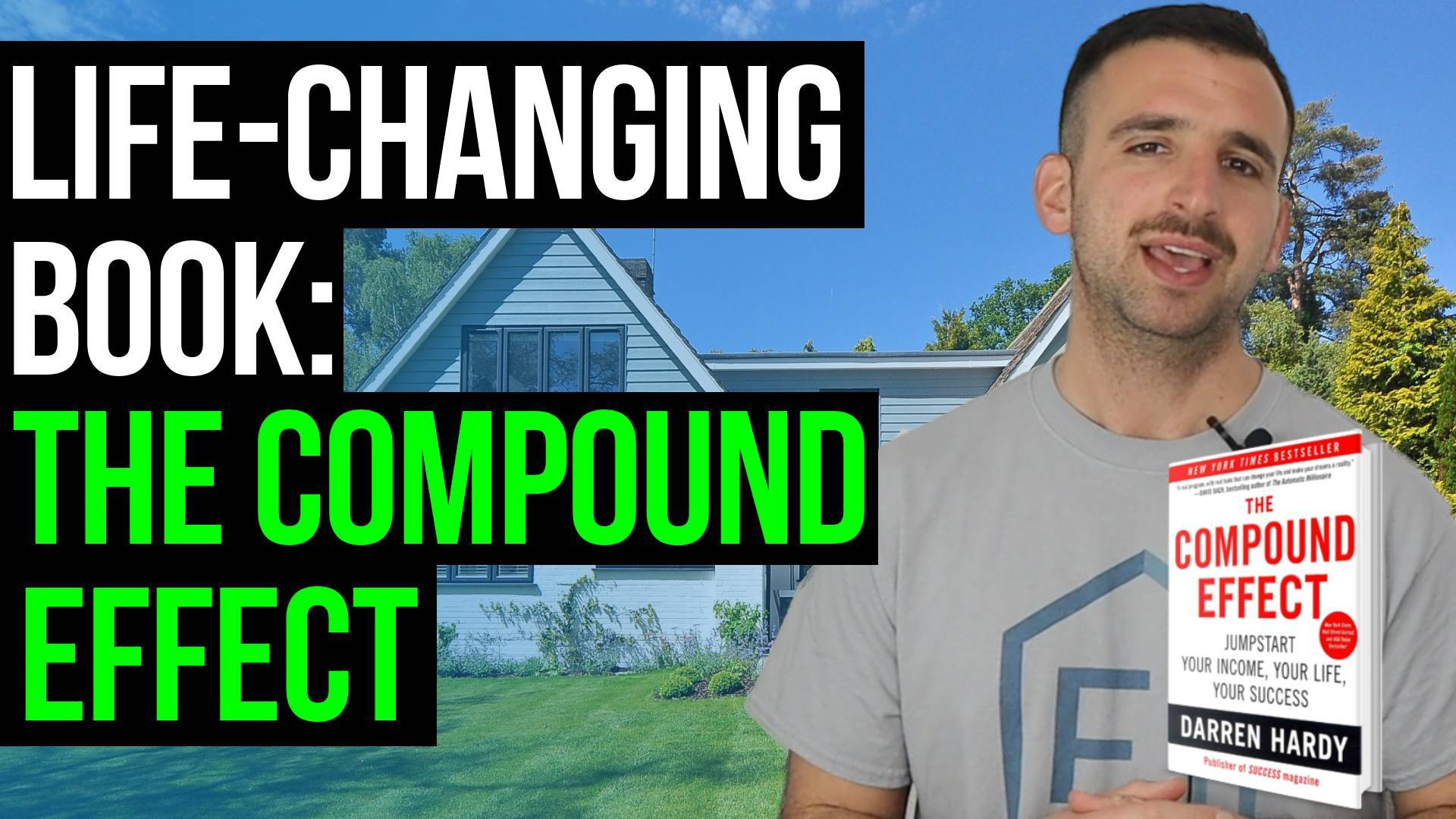 text reads: life-changing book: the compound effect