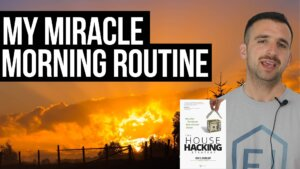 thumbnail text reads: the morning miracle routine