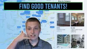 facebook marketplace/youtube thumbnail image. Text reads: Find good tenants!
