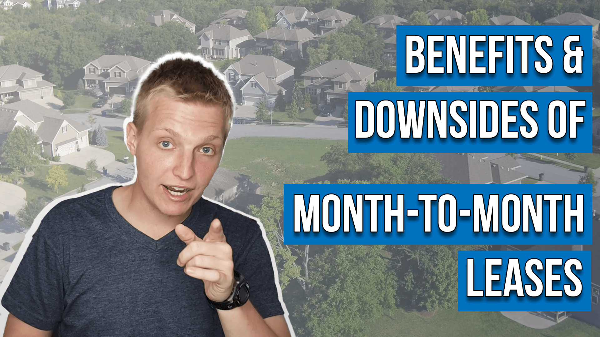 text reads: benefits of month-to-month leases (and downsides)