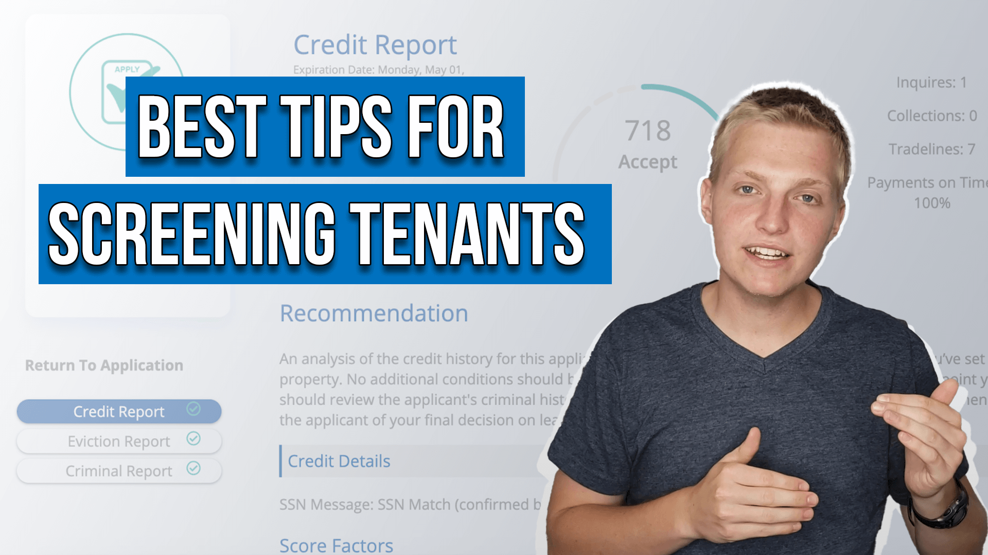 text on image reads: best tips for screening tenants
